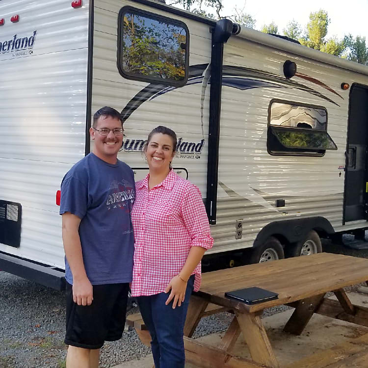 My wife and I on our first RV trip