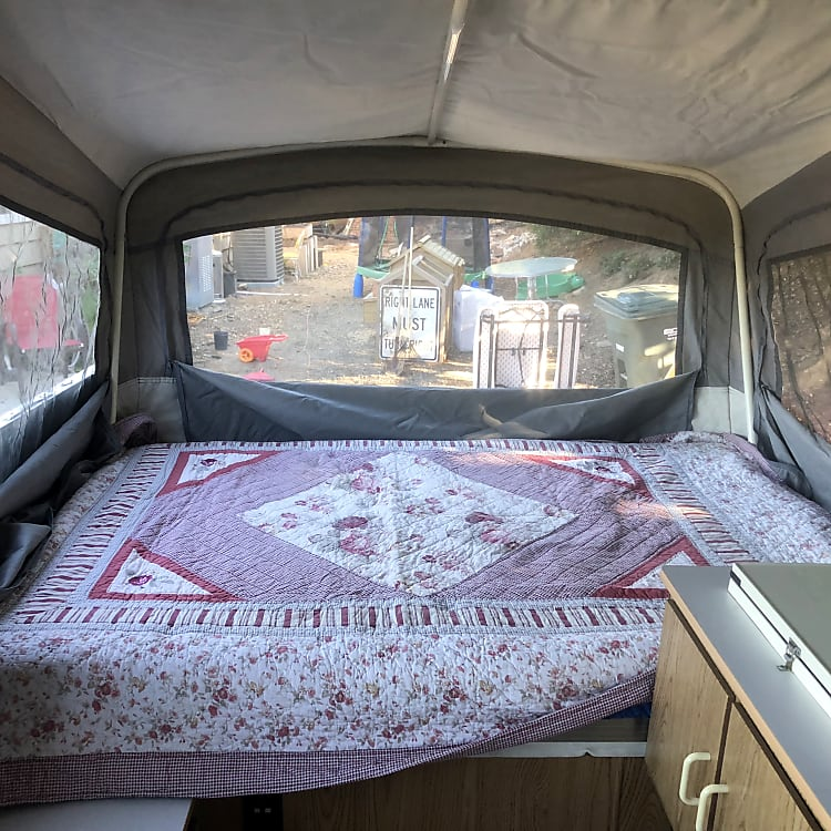 Left side double bed