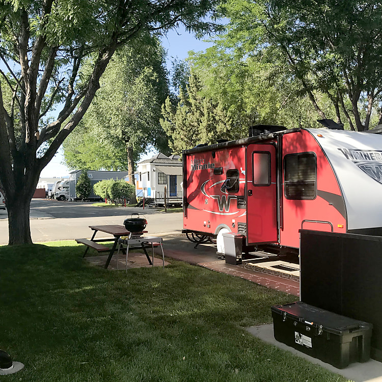 Parked for the summer in Salt Lake City.   Two adults and two kids full-timed for four months....it was perfect!