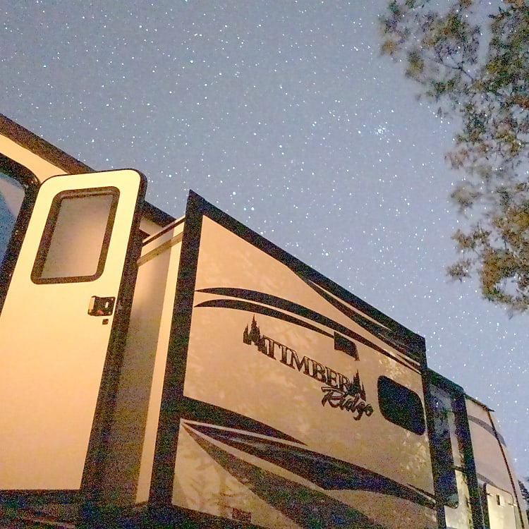 Stars out while camping at Jamala Beach.