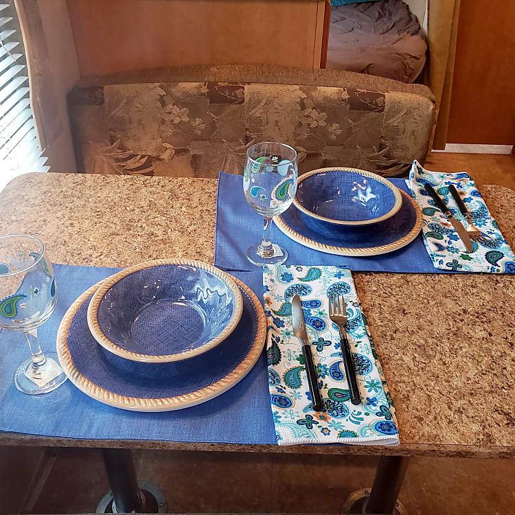 Kitchen table seats four