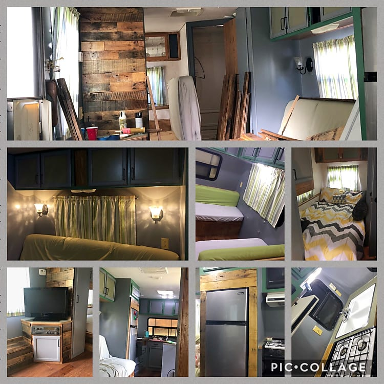During the flip and finished products of the renovations!