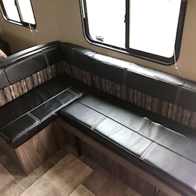 Inside sitting area.