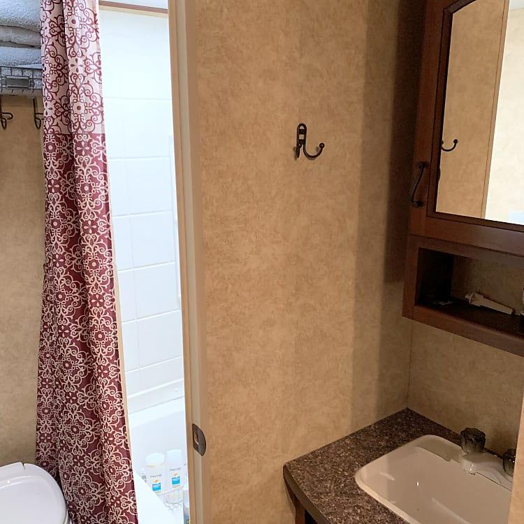 Separate Vanity from shower/toilet