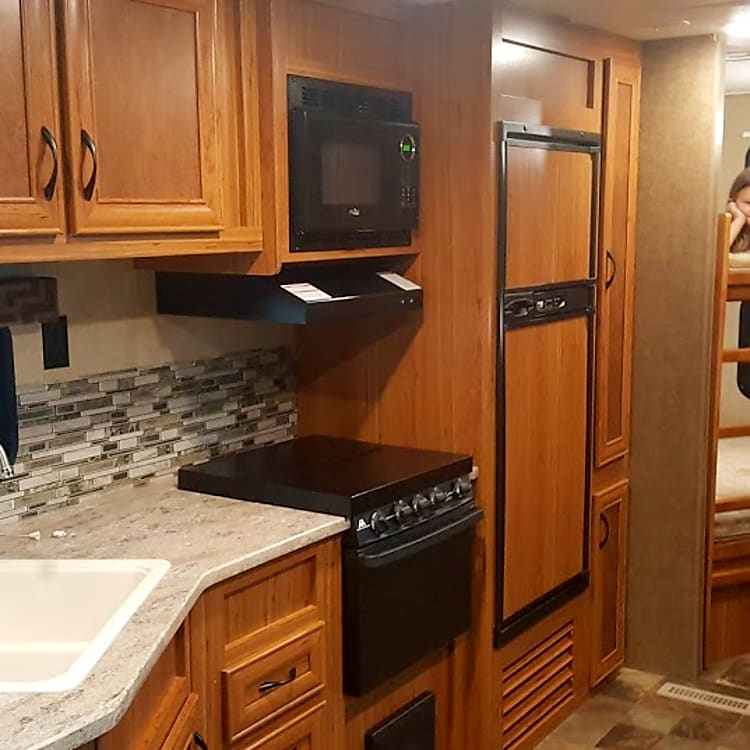 Kitchen with Double Bunks.