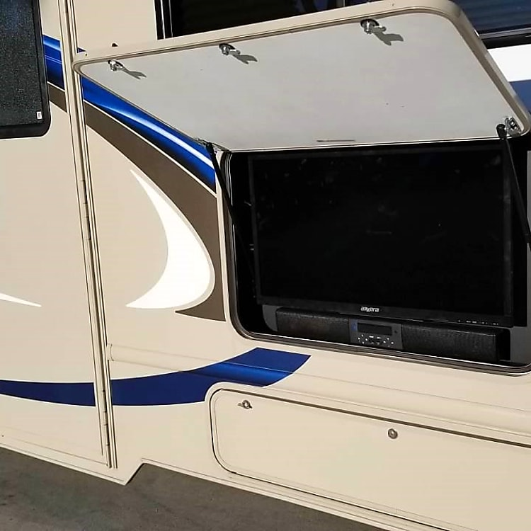 Outdoor TV and sound bar