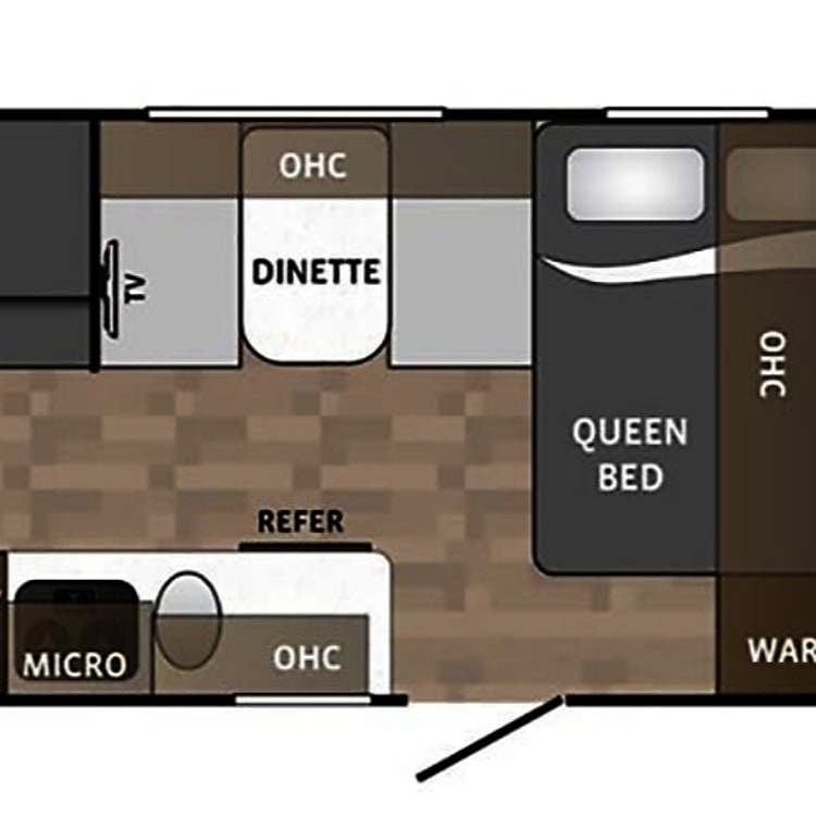 Here is a layout of exactly how the campers interior looks!