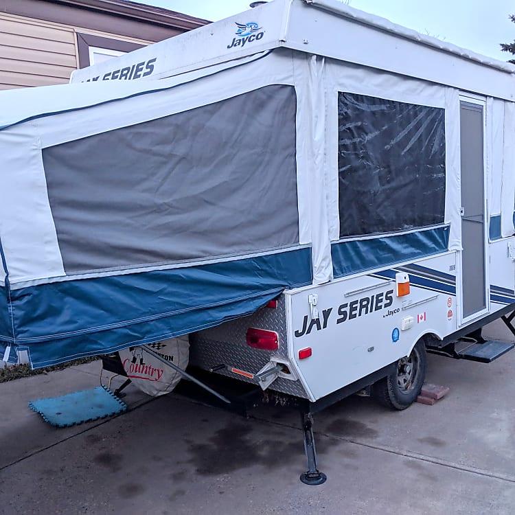 Back side of the trailer