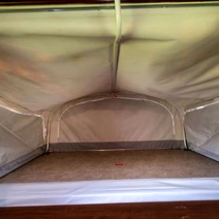 One of two Spacious Pop outs with inflatable mattress