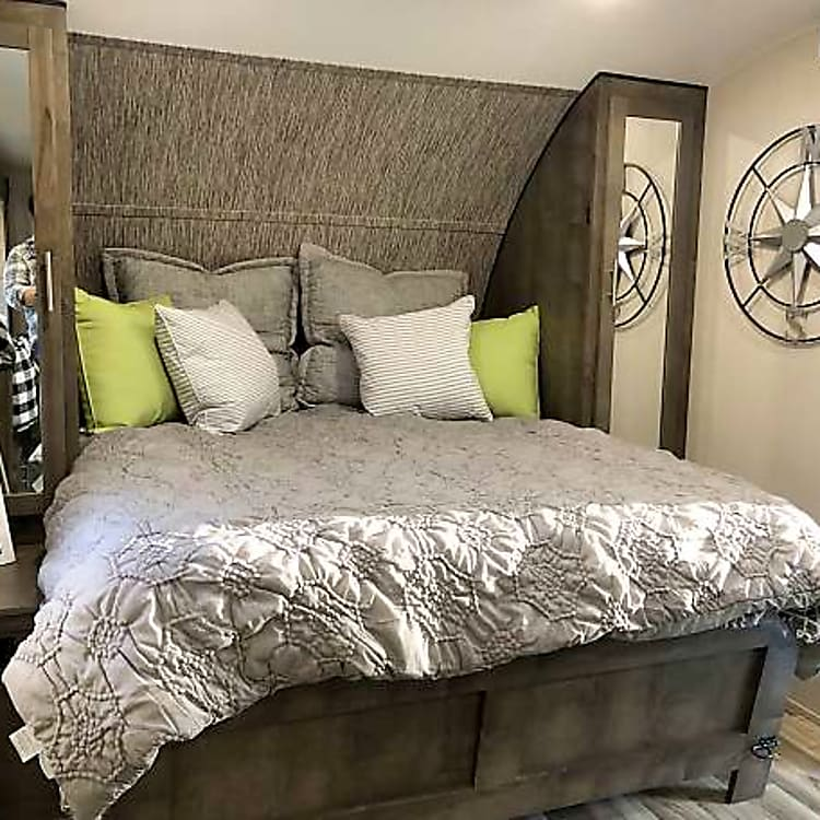 Murphy bed converted from sofa to queen size bed