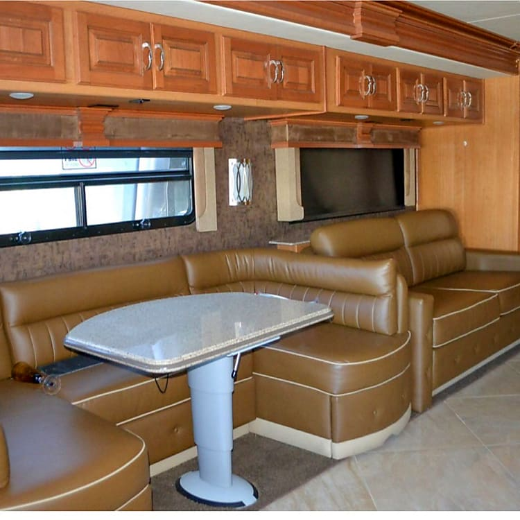 dinette, side with pullout queen air mattress