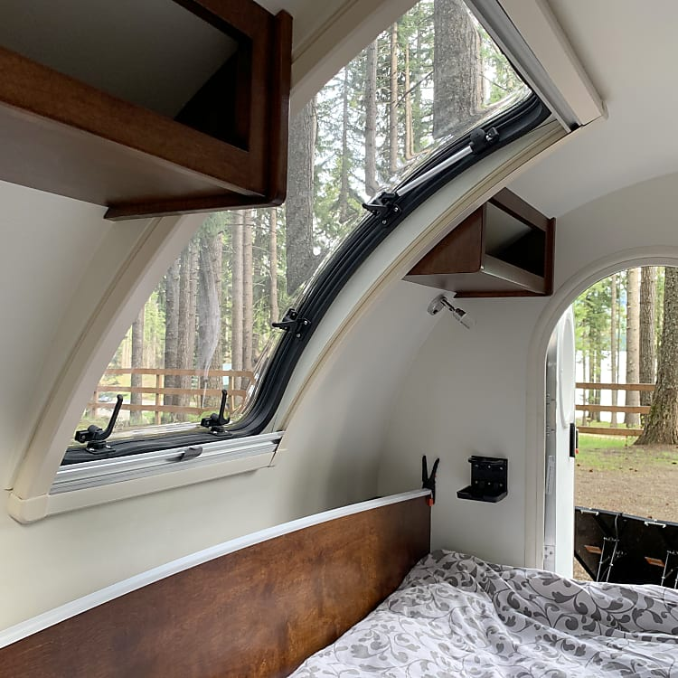 Skylight and storage cabinets
