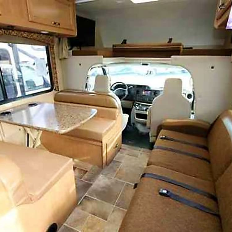 dining / living room and front of the rv