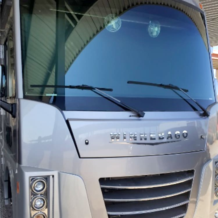Front End of RV - Huge Window - great view driving down the highway!