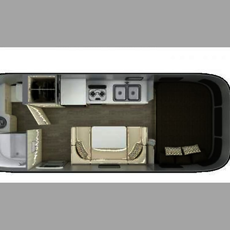 Floorpan showing full bathroom and layout