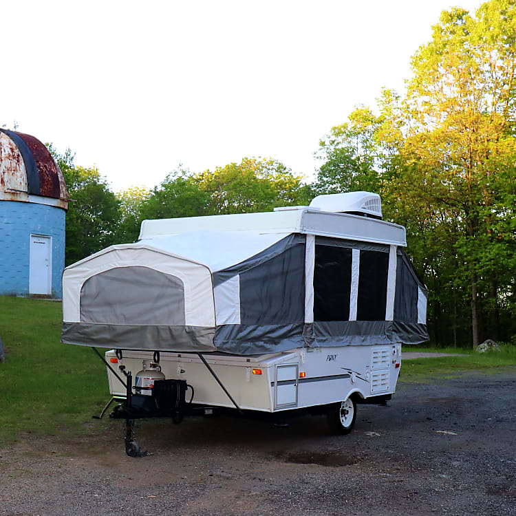 Easy tow, lots of room, better than a tent!