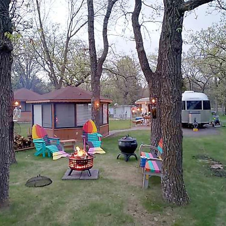 Our site at the Minnesota Airstream Park, Clear Lake, MN