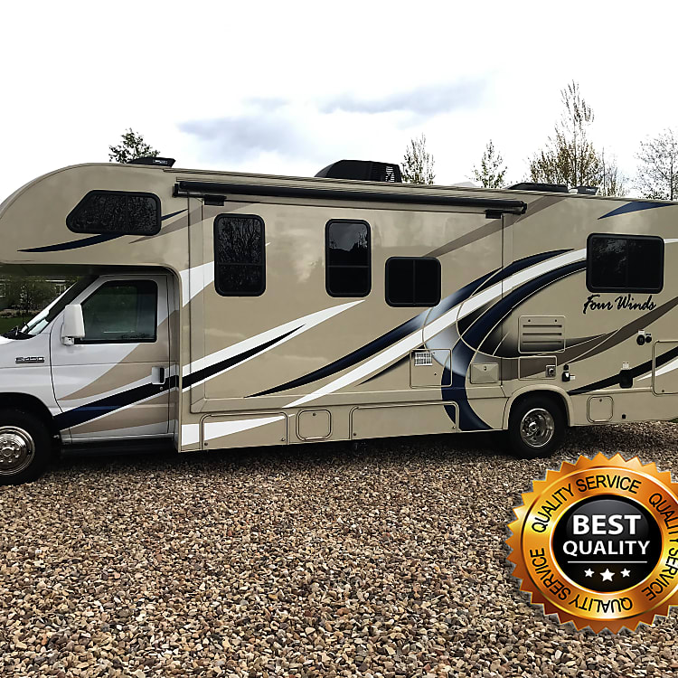 Make your vacation awesome by taking this comfortable, spacious, high-end motor home!