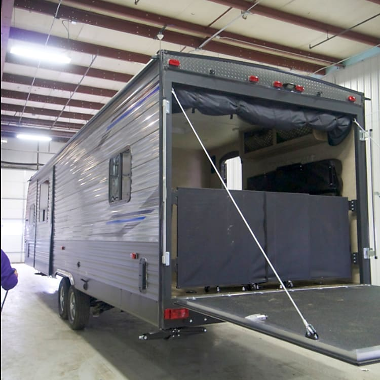 Rear of trailer