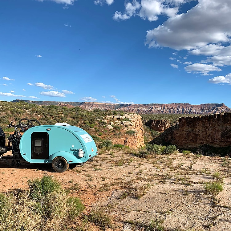 Camping in on the edge of a canyon near Zion's.   BLM camping near La Verkin is very low cost and a great way to get to the entrance early.    we live camping at High Country in the East side of Zion's as well.   it was 40$ a nigh