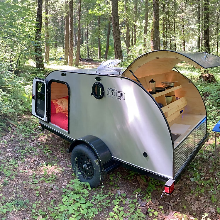 trailer in forest camp