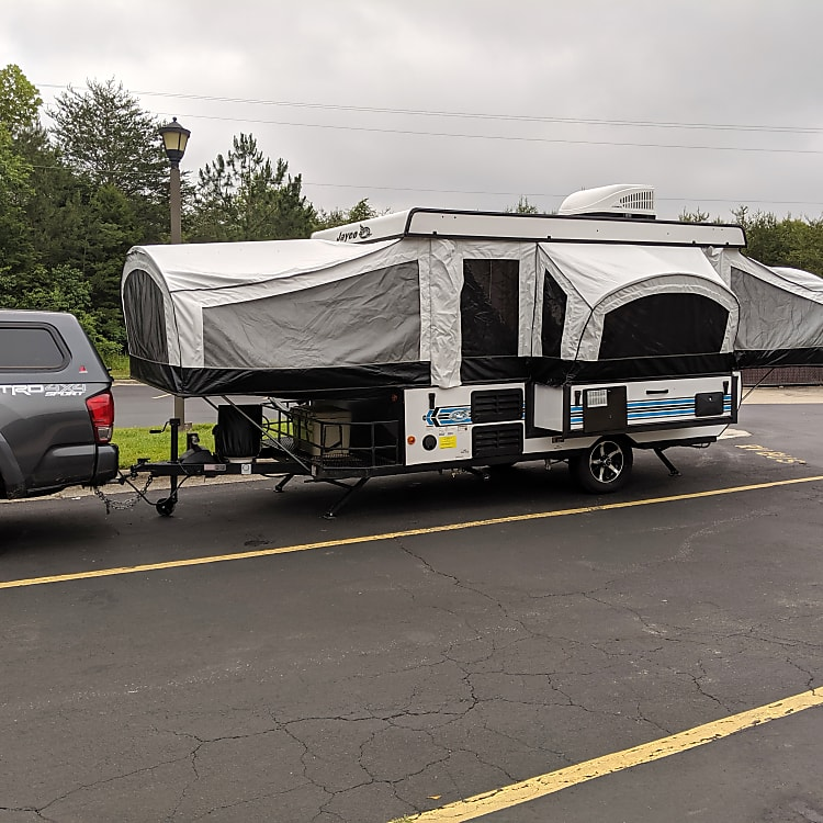 This camper is very easy to tow and quick to setup.
