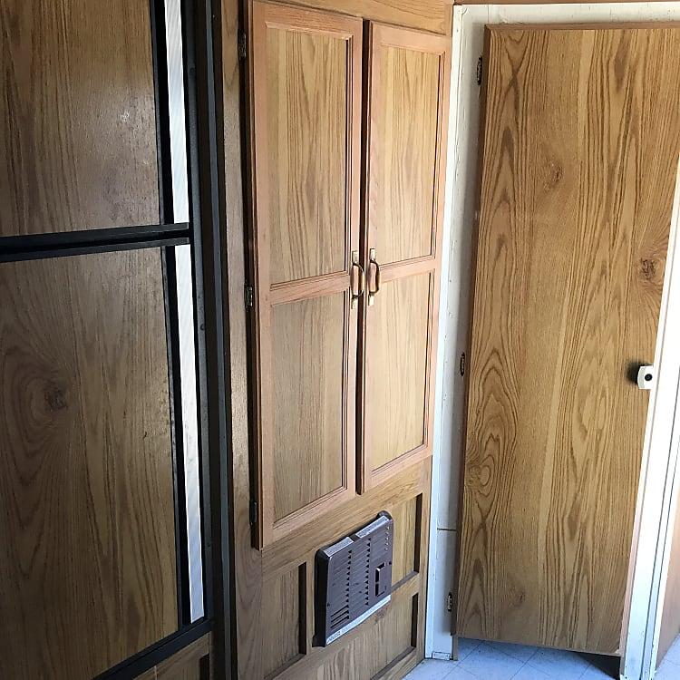 Fridge closet and bathroom