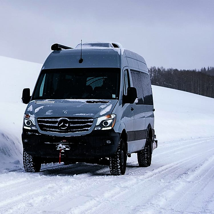 The 4X4 is great for getting this van around in the snow.
