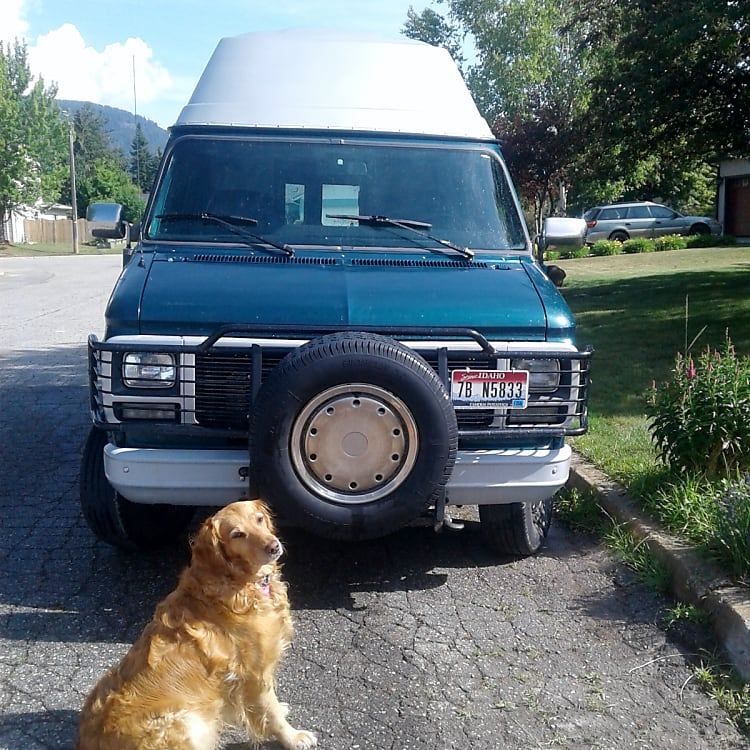Mystery Machine camper van is ready for an adventure!  Golden Retriever not included (but wishes she was).