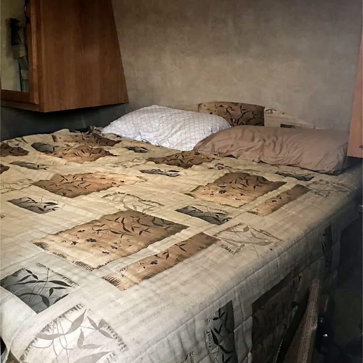 front queen bed