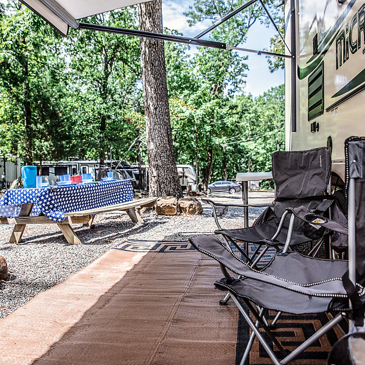 Our camper comes with camping chairs for you to sit outside to enjoy the breeze
