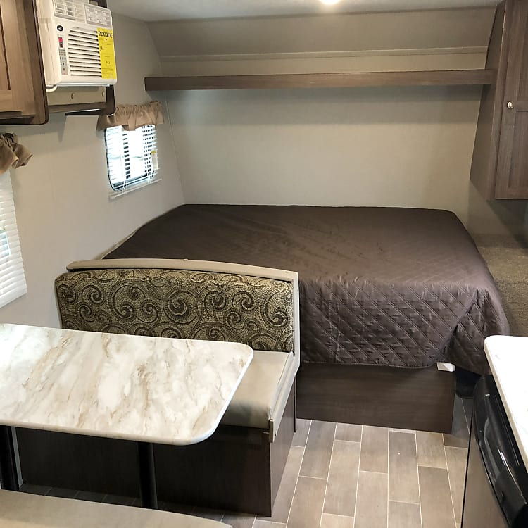 Queen Bed and Dining Table