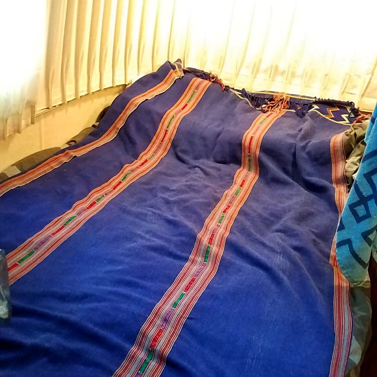 Customer photo of main bedroom (using own linens).