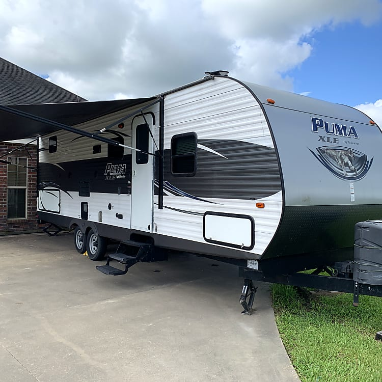 With 20' awning extended.