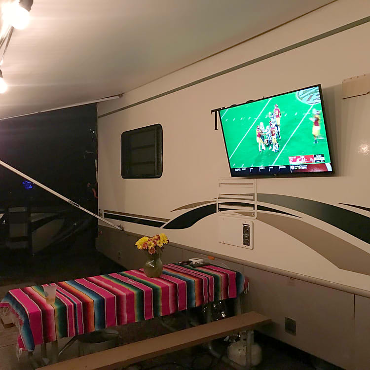 Watch the game on the road, or leave the TV behind. We do both.