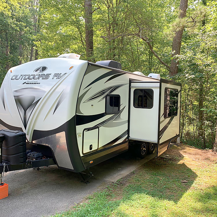 Meet Lil Sebastian! (for all you Parks & Recreation fans) The perfect travel trailer for a cross country road trip or weekend getaway. Our pet and family friendly trailer is a 2019 Outdoors RV Timber Ridge series.   We brought him home to Tennessee all the way from the mountains in Oregon while we traveled full-time. But there are so many more adventures in store for this little trailer!   This is an EXTREAMLY rugged and durable RV. You will notice right away how much better the build quality is in this trailer compared to others. So contact us today to plan your next outdoor adventure!