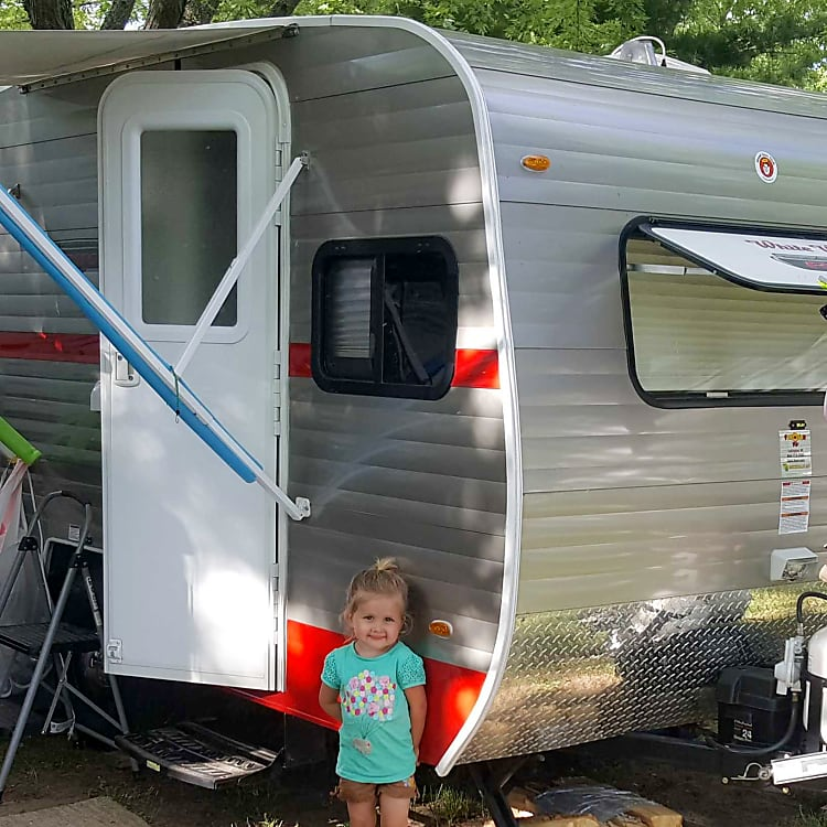 All set up for a wonderful weekend camping with the grandkids.