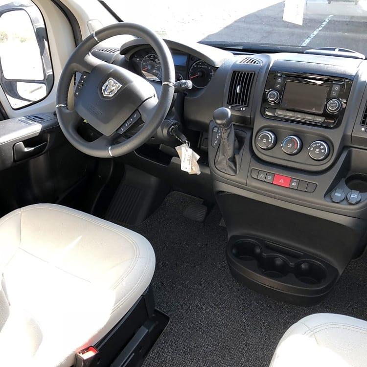 Comfortable driving cabin