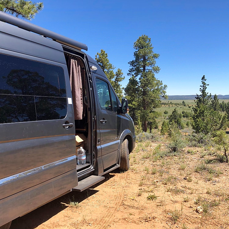 Boondocking in Utah, awning extends fully