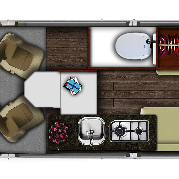 Split twin floor plan
