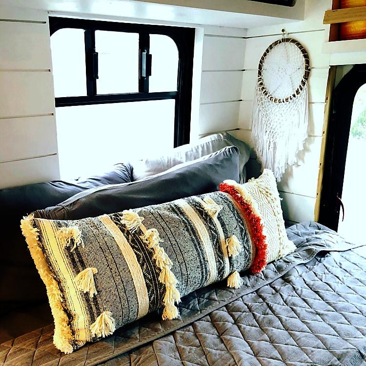 comfy pillows.