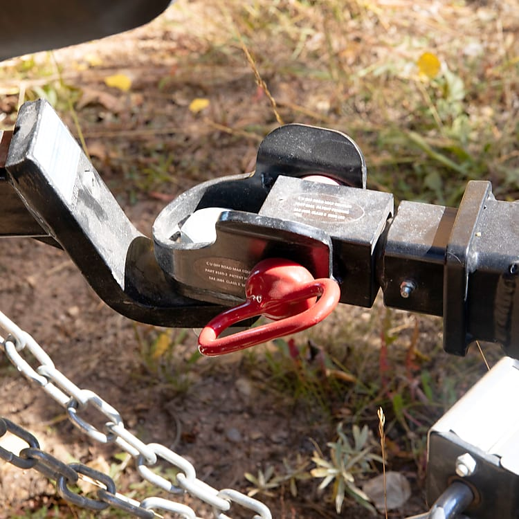 Articulated hitch, allows you to take Timon where ever your car can go. The 7 round trailer hookup allows for power breaks on the trailer to be activated, and for the smart battery to be powered while driving.