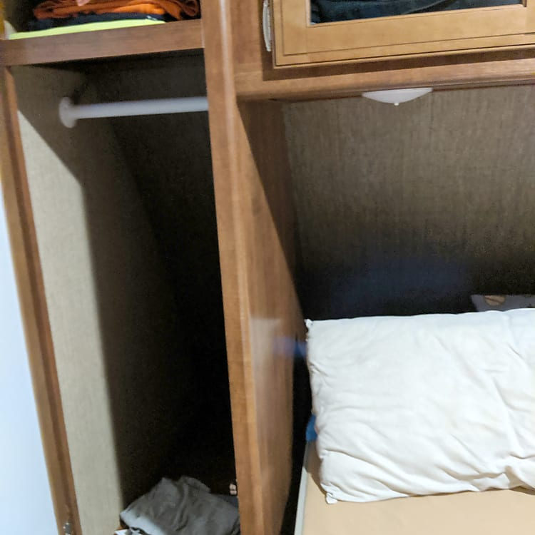 Storage both sides of Queen bed