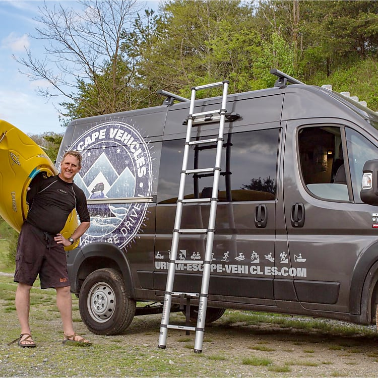 Roof rack & ladder system for boats