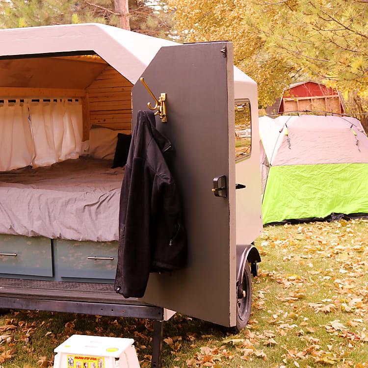 Sleep luxuriously and make the kids sleep in a tent.