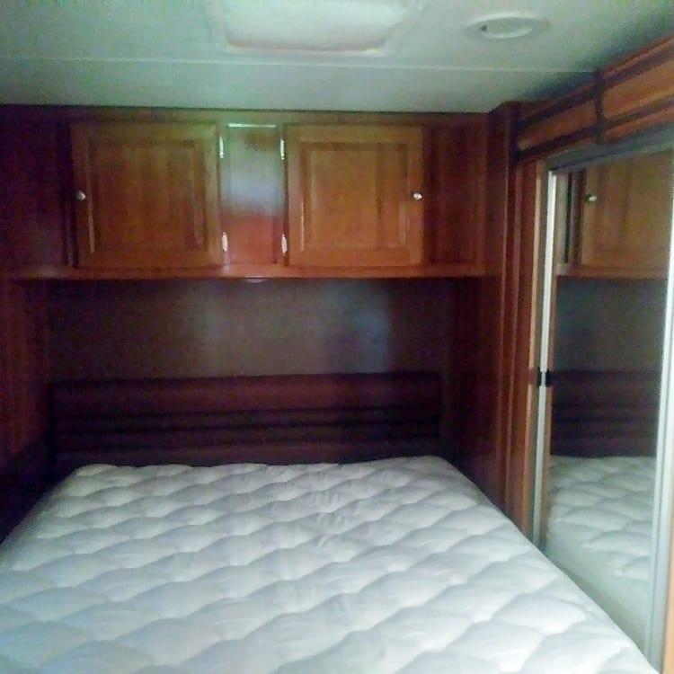 Private Master bedroom with door.