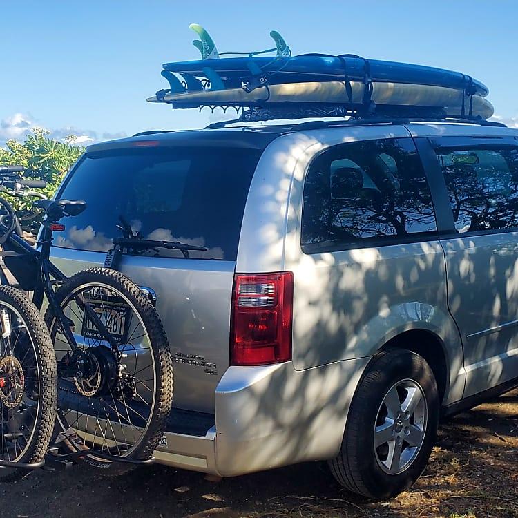 Bike rack.