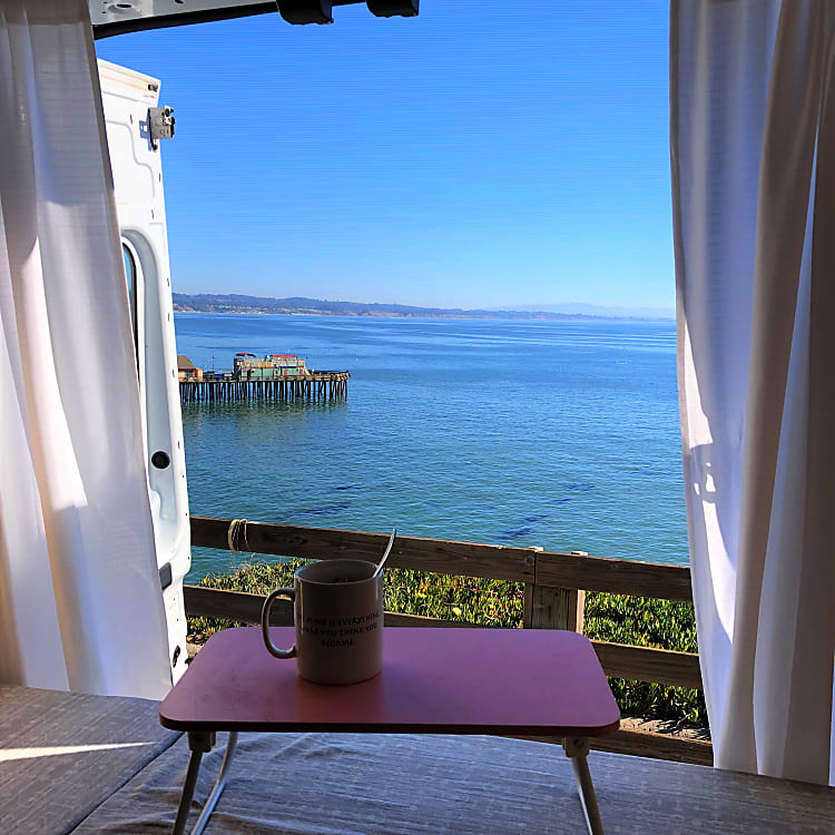 Coffee time in Capitola, CA within 20 minute ride from the pick up spot