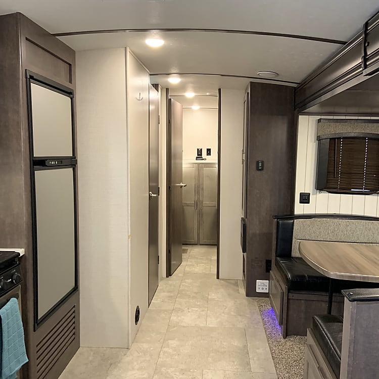 Bunk house is in the rear of trailer, and is a separate room!