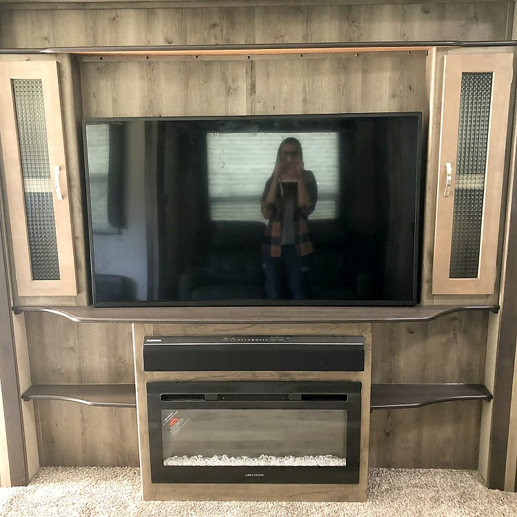 Large TV for entertainment